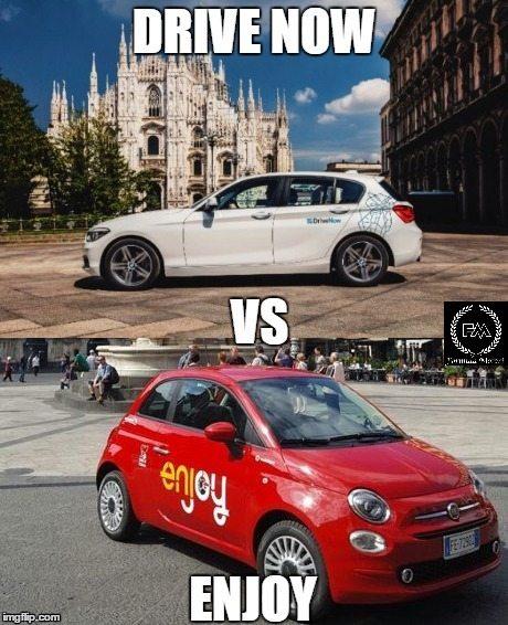 DRIVENOW VS ENJOY : NOLEGGIO VINCENTE?